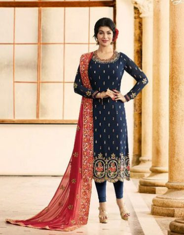 Royal Navy Blue Embroidery Salwar Kameez